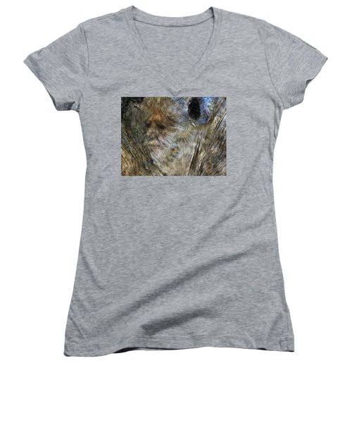 Women's V-Neck T-Shirt (Junior Cut) featuring the photograph Tree Memories # 25 by Ed Hall
