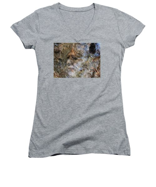 Women's V-Neck T-Shirt (Junior Cut) featuring the photograph Tree Memories # 35 by Ed Hall