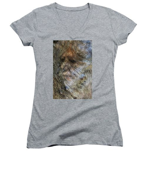 Women's V-Neck T-Shirt (Junior Cut) featuring the photograph Tree Memories # 41 by Ed Hall