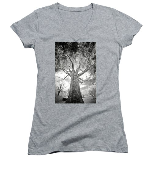 Tree Monster Bw Ap Women's V-Neck