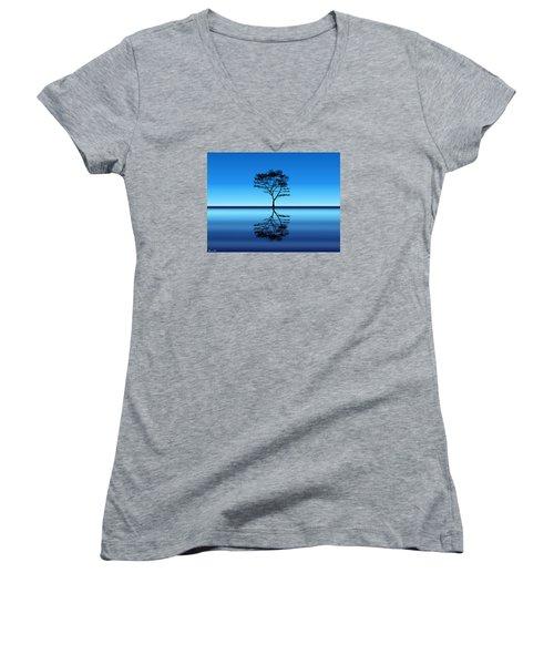Tree Of Life Women's V-Neck T-Shirt (Junior Cut) by Bernd Hau