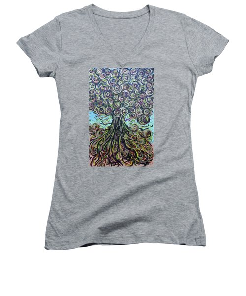 Tree Of Life- Fall Women's V-Neck (Athletic Fit)