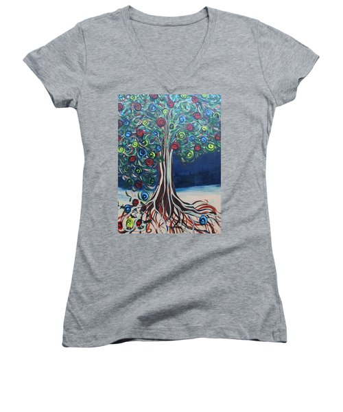 Tree Of Life - Summer Women's V-Neck T-Shirt