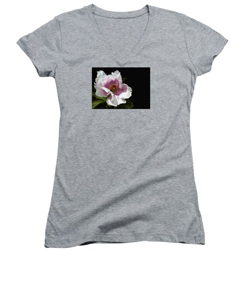 Tree Paeony II Women's V-Neck (Athletic Fit)