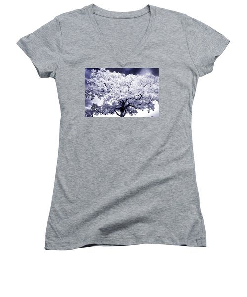 Women's V-Neck T-Shirt (Junior Cut) featuring the photograph Tree by Paul W Faust - Impressions of Light