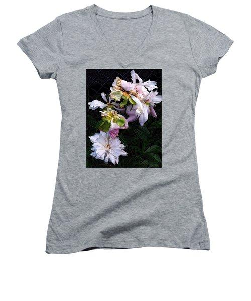 Tree Peony Women's V-Neck T-Shirt