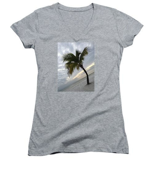 Women's V-Neck T-Shirt (Junior Cut) featuring the photograph Tree Pose by Jean Marie Maggi