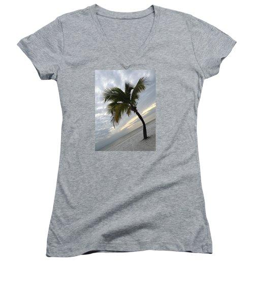Tree Pose Women's V-Neck T-Shirt (Junior Cut)