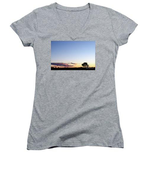 Tree Silhouette By Twilight Women's V-Neck T-Shirt