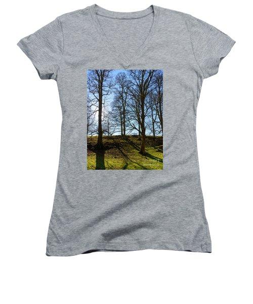 Tree Silhouettes Women's V-Neck