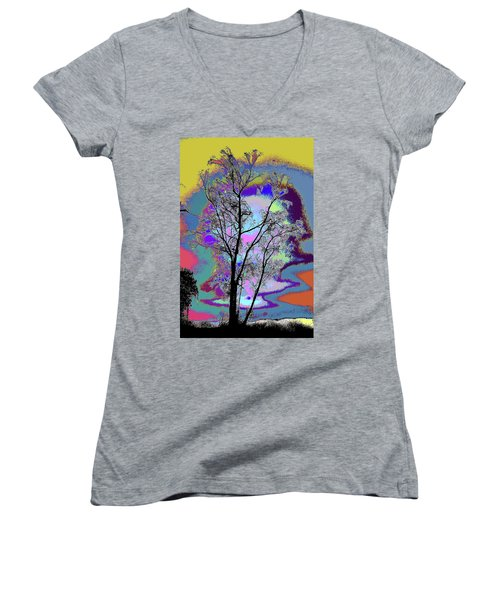 Tree - Story Of Life Women's V-Neck (Athletic Fit)