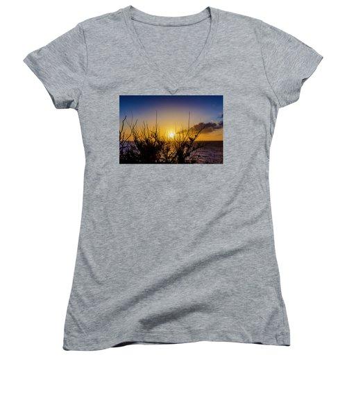 Tree Sunset Women's V-Neck