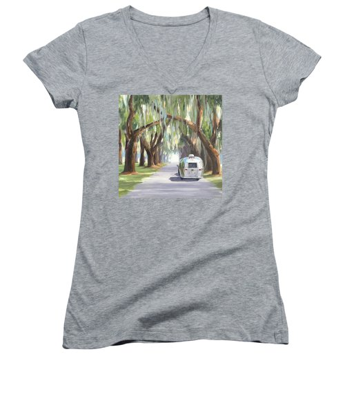 Tree Tunnel Women's V-Neck (Athletic Fit)