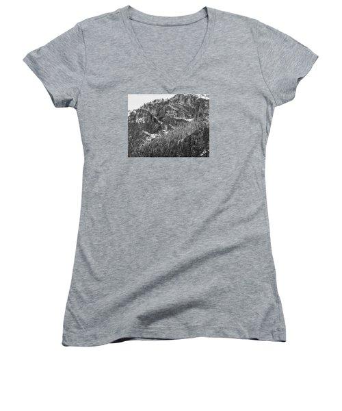 Treefall Women's V-Neck T-Shirt (Junior Cut) by Lora Lee Chapman