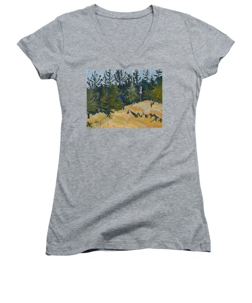 Trees Grow Women's V-Neck (Athletic Fit)