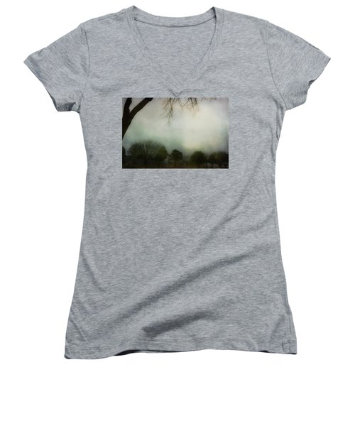 Trees In The Mist Women's V-Neck (Athletic Fit)