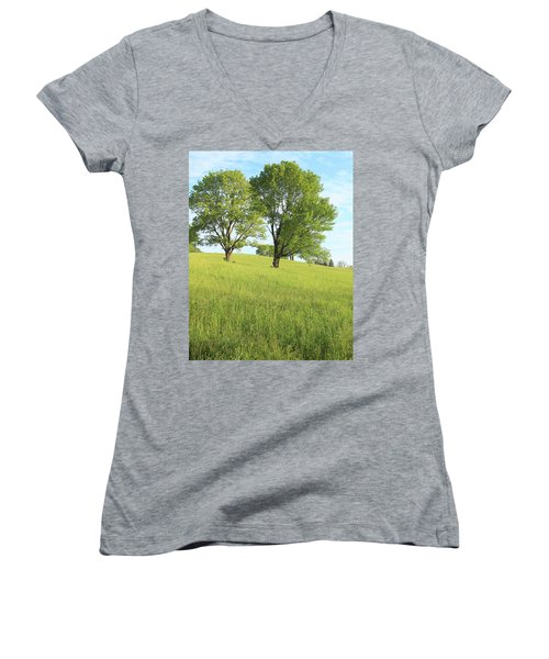 Summer Trees 2 Women's V-Neck