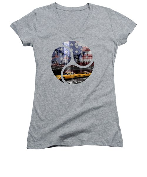 Trendy Design Nyc Composing Women's V-Neck T-Shirt
