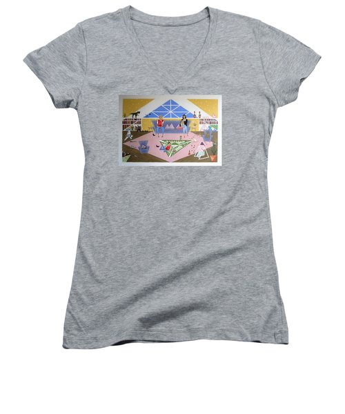 Triangular Life. Family Women's V-Neck (Athletic Fit)