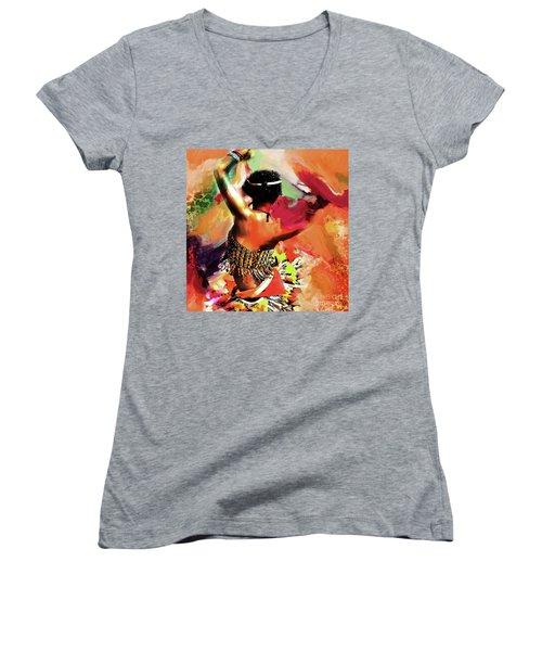Tribal Dance 0321 Women's V-Neck T-Shirt