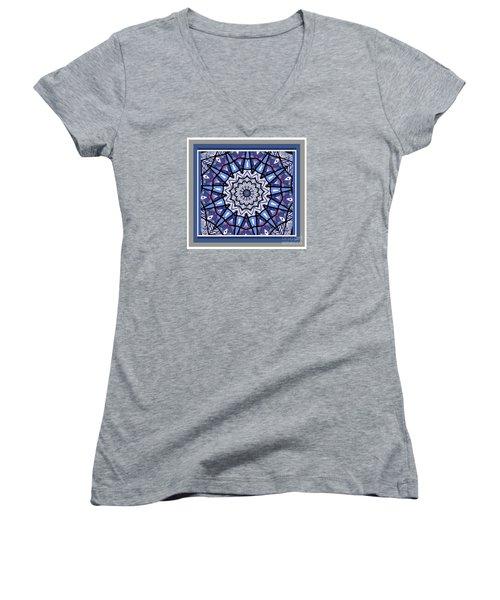 Women's V-Neck T-Shirt (Junior Cut) featuring the photograph Tribal Star by Shirley Moravec