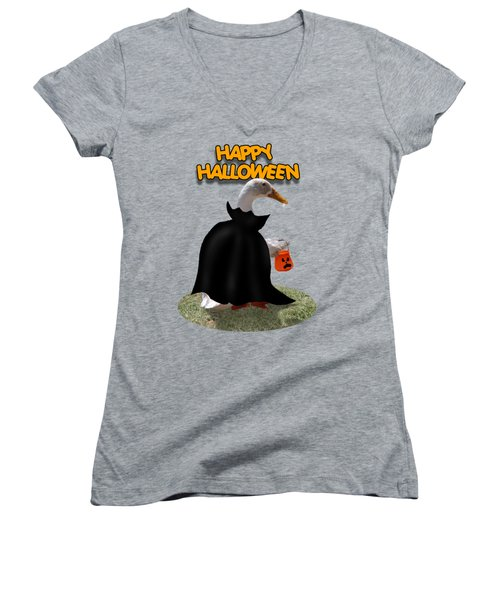 Trick Or Treat For Count Duckula Women's V-Neck T-Shirt