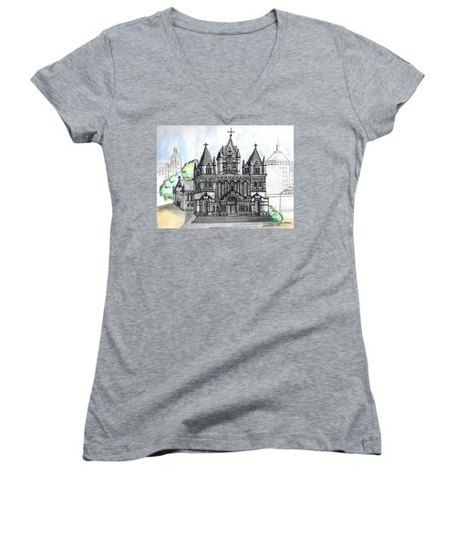 Trinity Church Boston Women's V-Neck T-Shirt