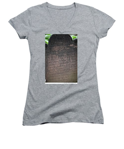 Trinity Tombstone Women's V-Neck T-Shirt