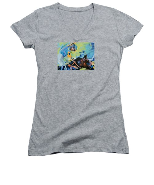 Triple Crown Champion American Pharoah Women's V-Neck (Athletic Fit)