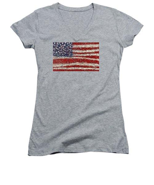 Triple Glory  Women's V-Neck T-Shirt