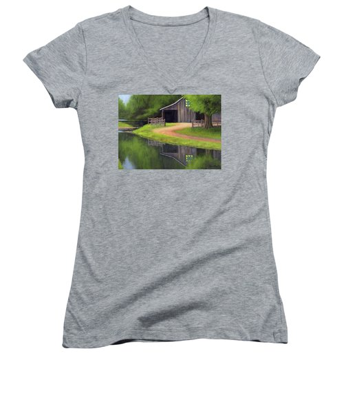 Triple L Ranch  Women's V-Neck T-Shirt