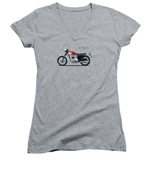 Triumph Bonneville 1966 Women's V-Neck (Athletic Fit)