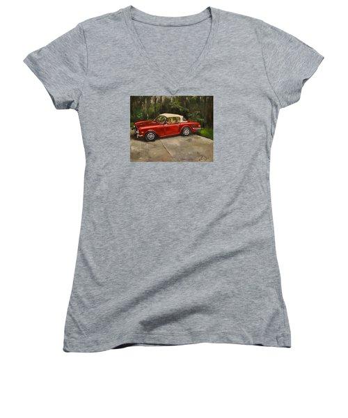 Triumph Women's V-Neck T-Shirt (Junior Cut) by Lindsay Frost