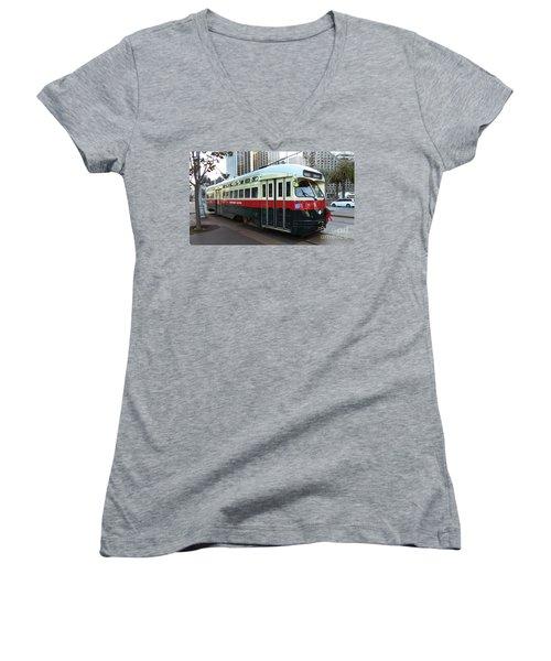 Trolley Number 1077 Women's V-Neck