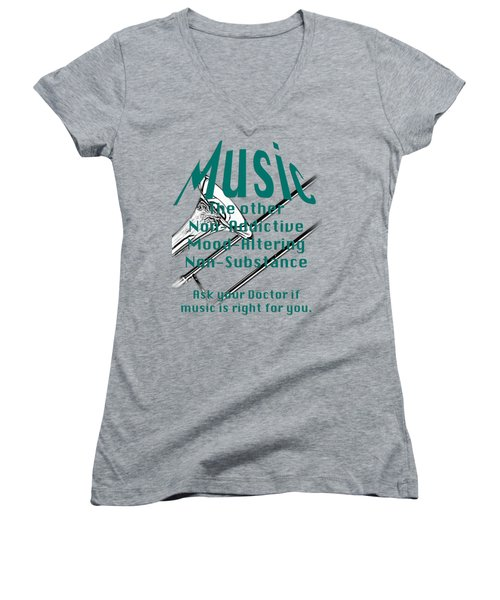 Trombone Music Is Right For You 5495.02 Women's V-Neck T-Shirt (Junior Cut) by M K  Miller