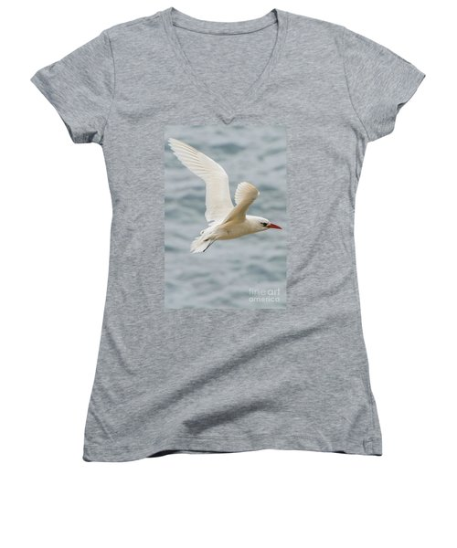 Tropic Bird 2 Women's V-Neck T-Shirt (Junior Cut) by Werner Padarin