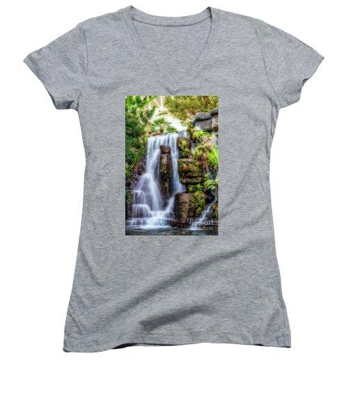 Tropical Falls Women's V-Neck T-Shirt