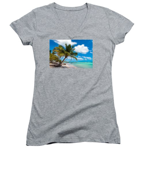 Tropical Paradise Women's V-Neck (Athletic Fit)