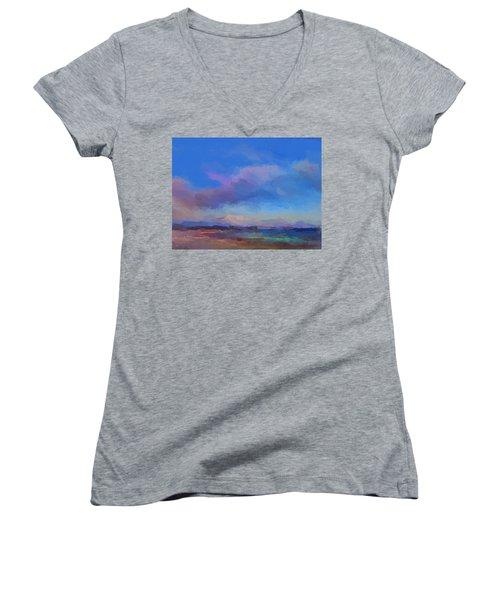 Tropical Seascape Women's V-Neck T-Shirt