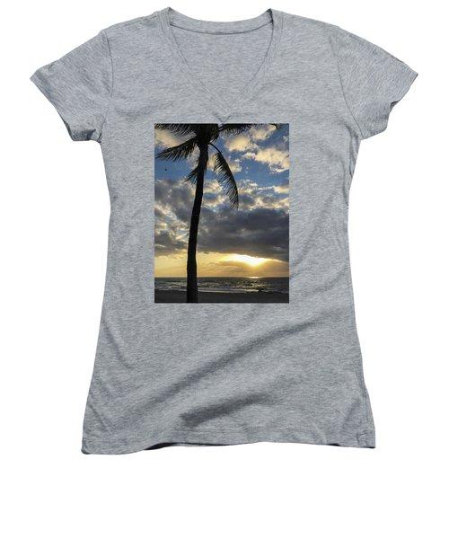 Tropical Sunrise Women's V-Neck
