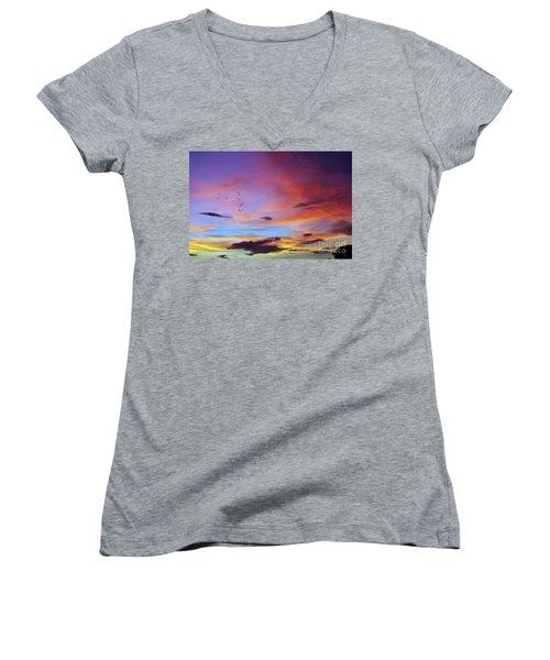 Tropical North Queensland Sunset Splendor  Women's V-Neck T-Shirt