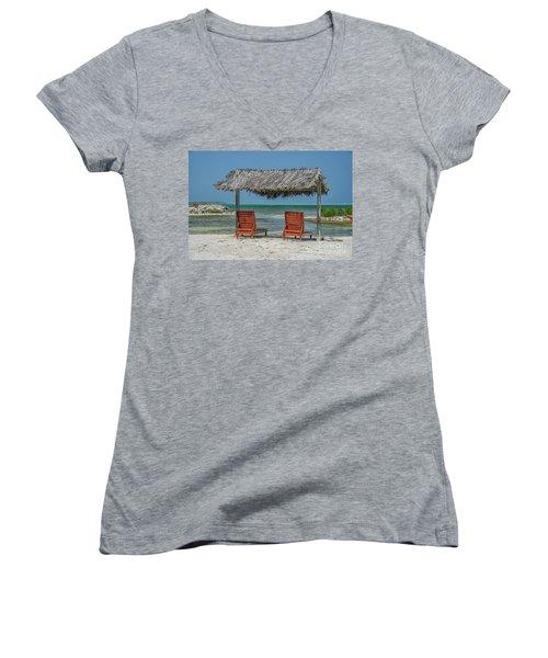 Tropical Vacation Women's V-Neck T-Shirt
