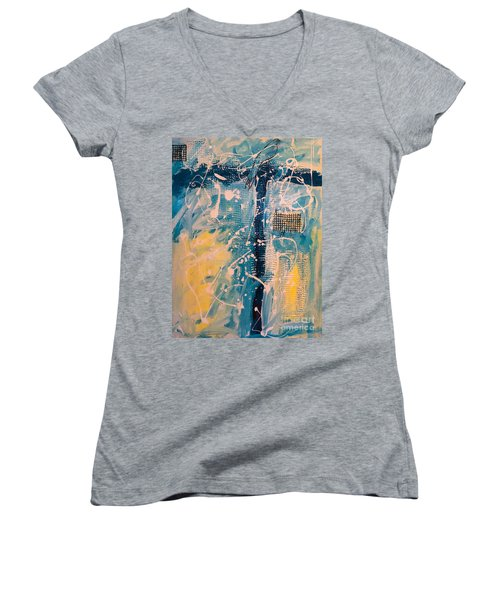 Tropicana Bird 03 Women's V-Neck T-Shirt (Junior Cut) by Gallery Messina