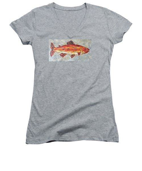 Trudy The Trout Women's V-Neck T-Shirt