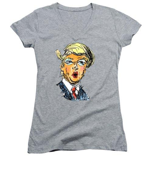 Trump Women's V-Neck T-Shirt (Junior Cut)