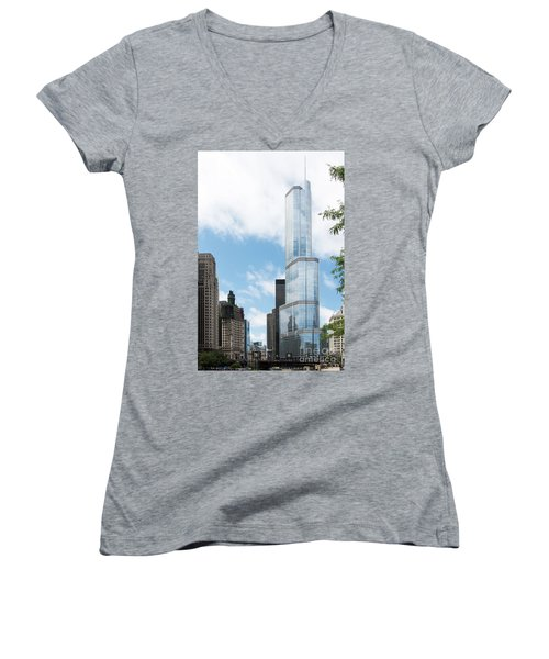 Trump Tower In Chicago Women's V-Neck