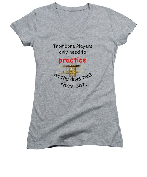 Trumpets Practice When They Eat Women's V-Neck (Athletic Fit)