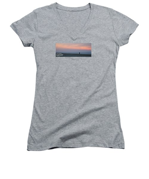 Women's V-Neck T-Shirt (Junior Cut) featuring the photograph Trust In Dreams... by Robert Banach