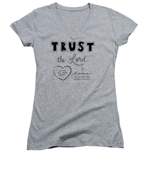 Trust Women's V-Neck (Athletic Fit)