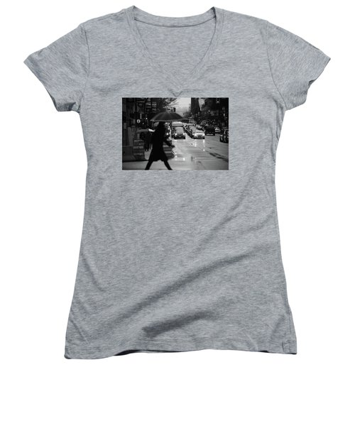 Women's V-Neck T-Shirt (Junior Cut) featuring the photograph Trying To Stand Out  by Empty Wall